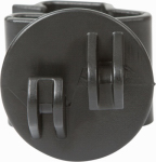 Gallagher North America G73104 Electric Fence Insulator, T Post Claw, Black, 25-PK