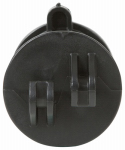Gallagher North America G73404 Electric Fence Insulator, Screw-On, Black, 25-Pk