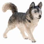 Schleich North America 16835 GRY Husky Dog