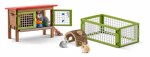 Schleich North America 42339 BRN/GRN Rabbit Hutch