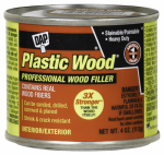 Dap 21502 Plastic Wood Wood Filler, Natural Color Cellulose Fibre, 4-oz.