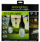 Jasco Products 31662999 LED Caf  Lights, 12-Bulb Set