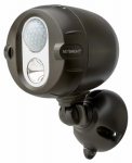 Mr Beams/Wireless Environment MBN350-BRN-01-04 Net Bright  Wireless LED Spotlight , Motion Sensing, Brown, 200-Lumens