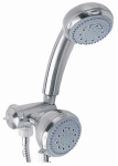 Everflow Industrial Supply 138796CA Showerhead, Fixed/ & Handheld, 5-Function