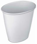 Sterilite 10118012 1.5 Gal White Oval Vanity Wastebasket