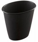 Sterilite 10119012 1.5 Gallon Black Oval Vanity Wastebasket