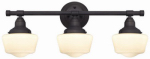 Westinghouse Lighting 63421 3-Light Wall Fixture, Bronze/White Opal Glass