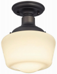 Westinghouse Lighting 63422 Interior Light Fixture, Semi-Flush, Bronze/White Opal Glass