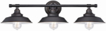 Westinghouse Lighting 63434 3-Light Wall Fixture, Bronze Finish