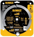 Dewalt Accessories DWA3193PCD PCD Hardiplank Saw Blade, 4-Tooth, 7.25-In.