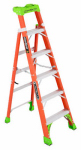 Louisville Ladder FXS1506 2-In-1 Cross Step Ladder, Fiberglass, 6-Ft.
