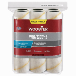 Wooster Brush RR727-9 Pro/Doo-Z Roller Covers, 3/8-In. Nap, 6-Pk.