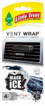 Car Freshner CTK-52231-24 Car Air Freshener, Vent Wrap, Black Ice, 4-Pk.