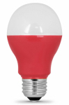 Feit Electric A19/R/10KLED LED Light Bulb, Red, 3-Watt