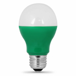 Feit Electric A19/G/10KLED LED Light Bulb, Green, 3-Watt