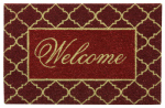 "Bacova Guild 58219 Koko Door Mat, ""Welcome"", 18 x 28-In."