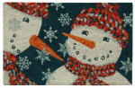 Bacova Guild 58220 Koko Door Mat, Snowman, 18 x 28-In.