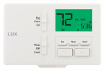 Lux Products TX100E Programmable Thermostat, Customizable Settings