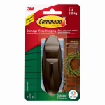 3M 17083BZ-AWES Command Outdoor Hook, Bronze Metallic, Large