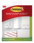 3M 17213-ES Command Picture Hanging Kit, Clear & White