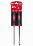 Milwaukee Electric or Electrical Tool 48-22-2002 Demo Screwdrivers With Heat Treated Steel Caps, 2-Pc.