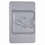 Racoorporated PTC100GY Locking Switch Cover, Non-Metallic, Gray