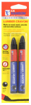 Hanson C H 10353 Lumber Crayon, Black, 2-Pk.