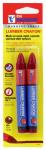 Hanson C H 10356 Lumber Crayon, Red, 2-Pk.
