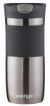 Ignite Usa SSH100A01 Byron Snap-Seal Travel Mug, Gun Metal Stainless Steel, 16-oz.