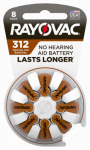 Spectrum/Rayovac L312ZA-8ZM Rayovac Loud 'N Clear Hearing Aid Batteries size 312 carded 8 pk.