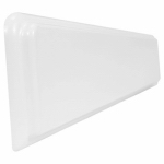 Rsi Home Products Sales USS22D-3-SS Universal Side Splash, Beveled Edge, Cultured Marble, 4 x 21-In.