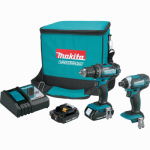 Makita Usa CT225R 18V Compact Lithium-Ion Cordless 2-Pc. Combo Kit or Kitchen (2.0Ah)