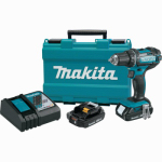 "Makita Usa XFD10R 18V Compact Lithium-Ion Cordless 1/2"" Driver-Drill Kit, (2.0Ah)"