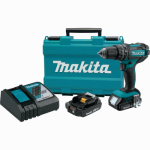 "Makita Usa XPH10R 18V Compact Lithium-Ion Cordless 1/2"" Hammer Driver-Drill Kit or Kitchen (2.0Ah)"