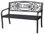 Imperial Power IP-D1812BK-2 Welcome Steel Park Bench