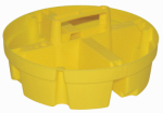 Pull R Holding 15051 Bucket Stacker, Yellow Plastic, 5-Gal.