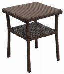 Chicago Wicker & Trading 3331-009-017-02 Liberty End Table With Shelf
