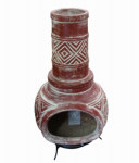 Avera Products ACH001764 Mexican Clay Chimenea Outdoor Fireplace, 42 x 17-In.
