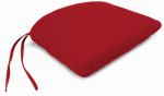 Jordan Mfg 9845-2569D Uptown Bistro Seat Cushion With Ties