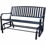 Bond Mfg 69557 Gliding Park Bench, Steel, Black