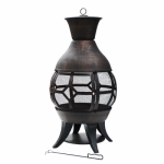 Zhejiang Yayi Metal Technology FP-51117 Concordia Chiminea Fire Pit, Cast Iron