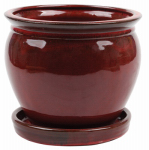 "Att Southern CRM-031055 8"" RED Wisteria Planter"
