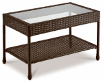 Creative Courtyards Int 16S7301S-V Sunset Cove Wicker Coffee Table