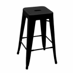 Courtyard Creations YD-H675-B Balcony Stool, Black, 16.5-In.