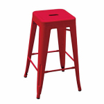 Courtyard Creations YD-H675-R Balcony Stool, Red, 16.5-In.