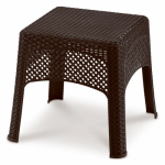 Us Leisure 189982 Veranda Wicker Side Table, Cappuccino
