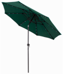 March Products ECO908DE-P09 Market Umbrella With LED Lights, Hunter Green, 9-Ft. x 99-In.