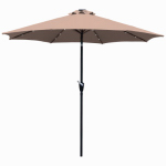 March Products ECO908DE-P22 Market Umbrella With LED Lights, Beige, 9-Ft. x 99-In.