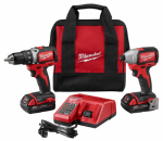 Milwaukee Electric or Electrical Tool 2798-22CT M18 Compact Drill/Impact Combo Kit, Brushless, Lithium-Ion