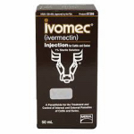 Animal Health International 15447154 50ml Injectable Ivomec